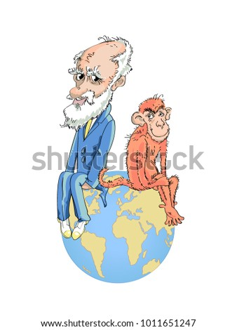 darwin's theory ironic sketch