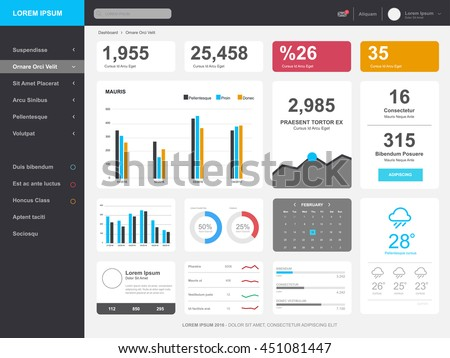 dashboard  admin panel template