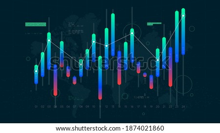 Dashboard Intelligent infographic technology UI interface, money transactions and investment, futuristic data analytics, business application display