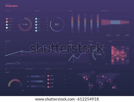 Dashboard theme creative infographic