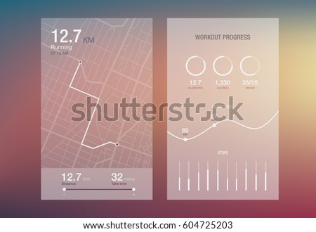 Dashboard theme creative infographic of city map navigation