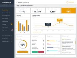 Dashboard user admin panel template design