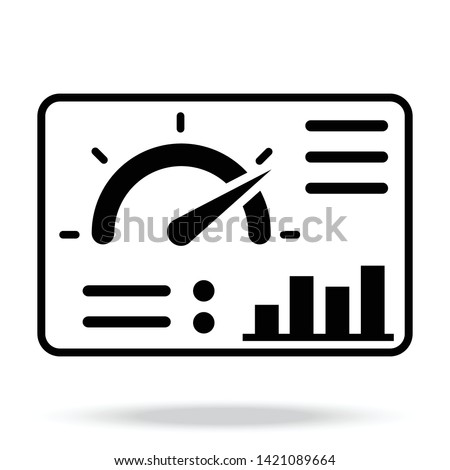 Dashboard Vector Icon for website or other thing. Сток-фото ©