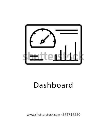 Dashboard Vector Line Icon