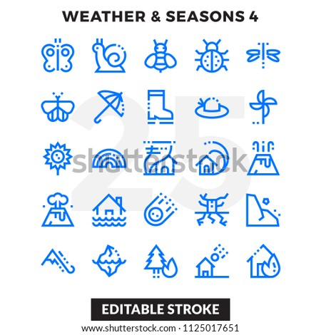 dashed outline icons pack for