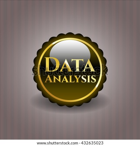 Data Analysis gold shiny badge