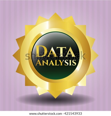 Data Analysis gold shiny emblem