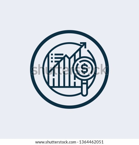 data analysis icon in trendy design style. data analysis icon isolated on white background. data analysis vector icon simple and modern flat symbol for web site, mobile, logo, app, UI. data analysis i