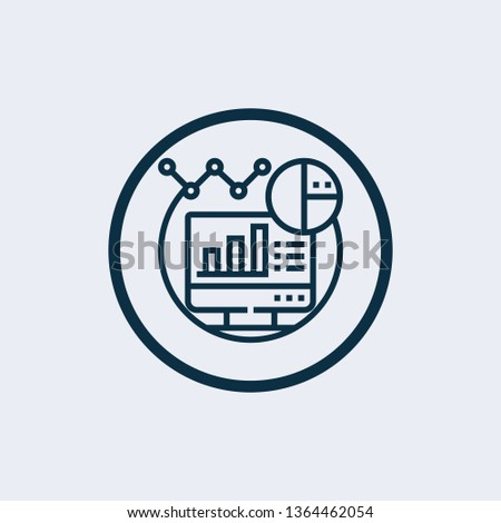 Data analysis icon in trendy design style. data analysis icon isolated on white background. data analysis vector icon simple and modern flat symbol for web site.