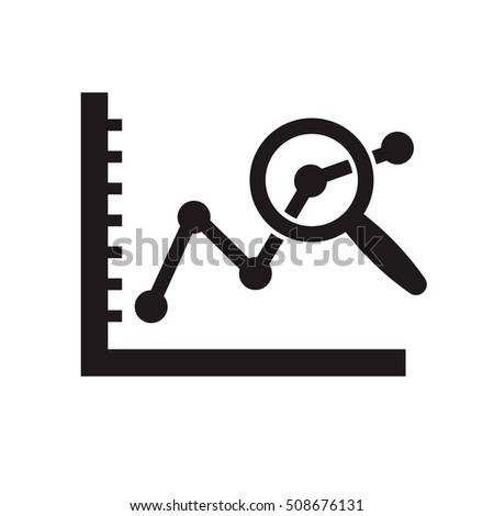 data analysis icon on the white background