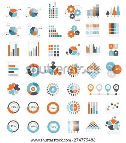 data analysis icons on white
