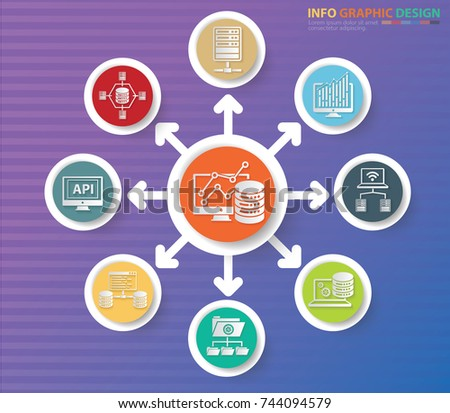 Data analysis info graphics design,vector #744094579
