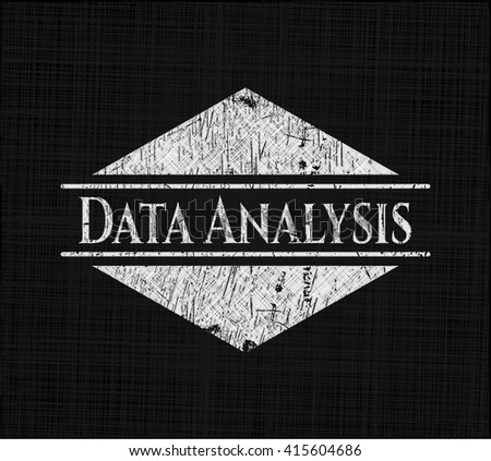Data Analysis on chalkboard
