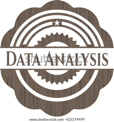Data Analysis realistic wood emblem