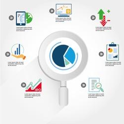 data analytic, business data analysis info graphic, icons