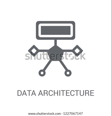 Data architecture icon. Trendy Data architecture logo concept on white background from Technology collection. Suitable for use on web apps, mobile apps and print media.