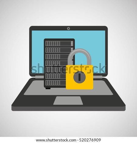 data center protection cyber security vector illustration eps 10