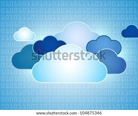 Data cloud background