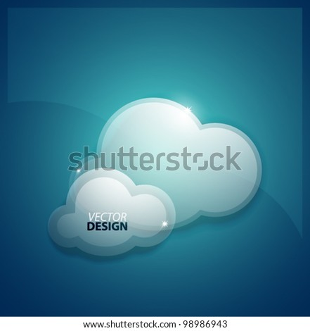 Data clouds vector background