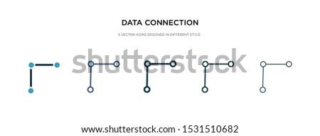 data connection icon in different style vector illustration. two colored and black data connection vector icons designed in filled, outline, line and stroke style can be used for web, mobile, ui