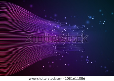 Data connection speed line. Futuristic network representation. Graphic concept for your design