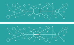 Data flat design abstract simple background