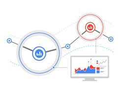 Data flow analysis. Analytics dashboard