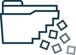 data loss file icon vector graphic symbol