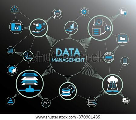 data management concept, information technology concept