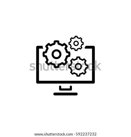 data management icon. flat...