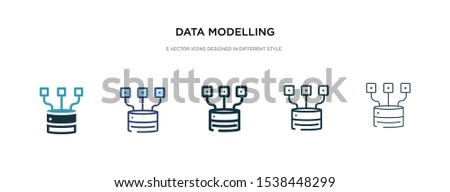 data modelling icon in different style vector illustration. two colored and black data modelling vector icons designed in filled, outline, line and stroke style can be used for web, mobile, ui