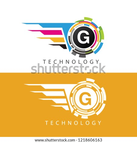 Data Pixel G Letter Logo, Visual Data Design