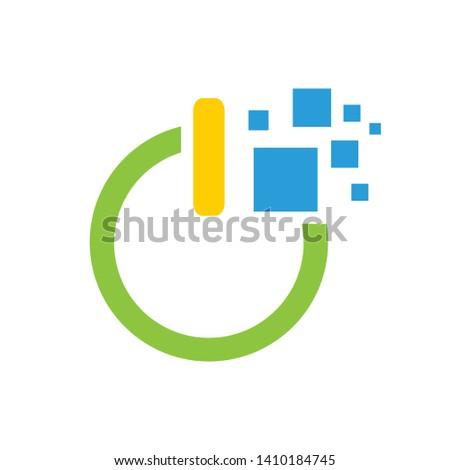 data power, power, power digital logo