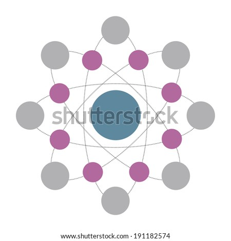 Data Science Atom Rings Isolated Vector