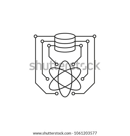 Data science icon. Outline data science vector icon for web design isolated on white background