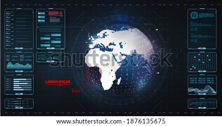 data screen with chart  graphic