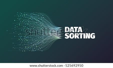data sorting abstract vector