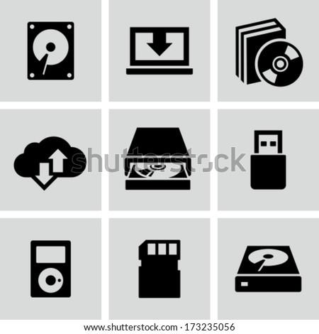 Data storage icons