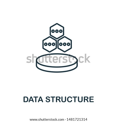 Data Structure icon. Thin outline style design from web hosting icons collection. Creative Data Structure icon for web design, apps, software, print usage.