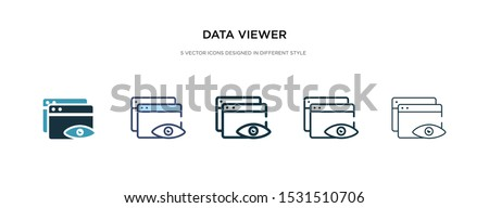 data viewer icon in different style vector illustration. two colored and black data viewer vector icons designed in filled, outline, line and stroke style can be used for web, mobile, ui ストックフォト ©