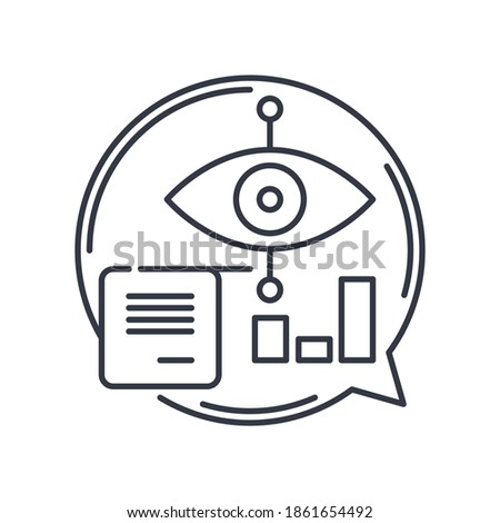 Data visualisation icon, linear isolated illustration, thin line vector, web design sign, outline concept symbol with editable stroke on white background. Foto stock ©