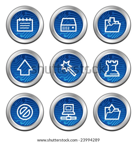 data web icons  blue