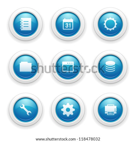 Database and Settings Icons