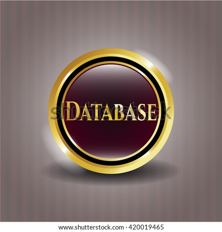 Database golden emblem