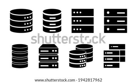 Database icon set. database vector icon Stock foto ©