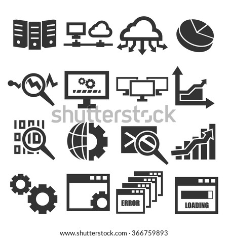 database management system icon set