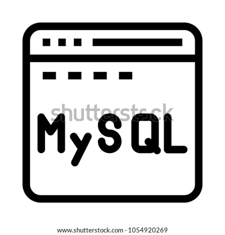 database my sql  vector icon
