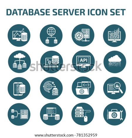 Database server icon set,vector