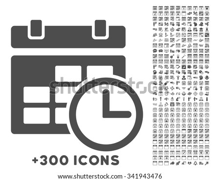 date and time vector icon with