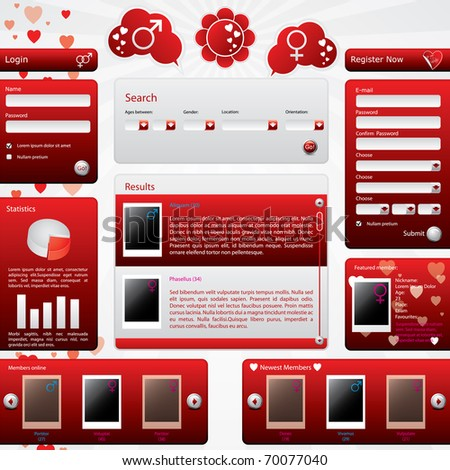 Dating website template for valentine's day